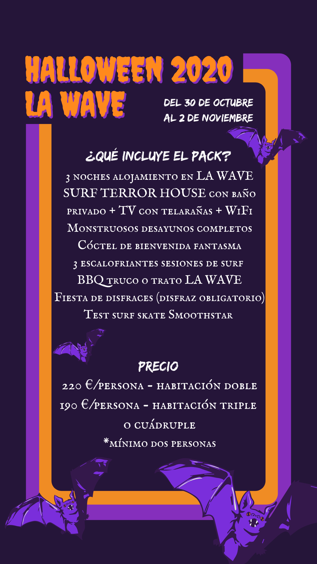 Halloween 2020 en La Wave Surf House & School
